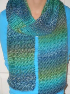 Tunisian Drop Stitch Scarf